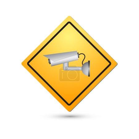 Signe de la vidéosurveillance. Caméra de surveillance. Vector