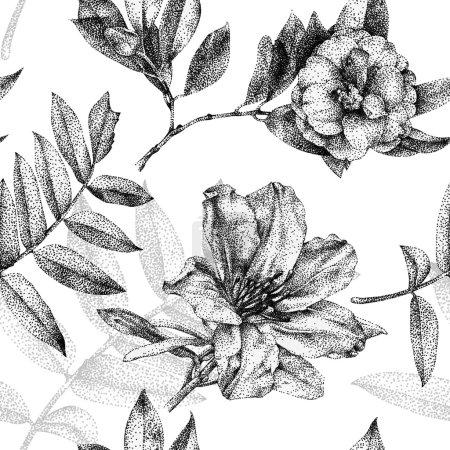 Photo pour Dessin graphique, technique du pointillisme. Peut être utilisé pour le remplissage de motifs, fonds d'écran, page Web, textures de surface - image libre de droit