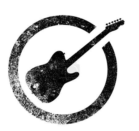 Electric Guitar Ink Stamp