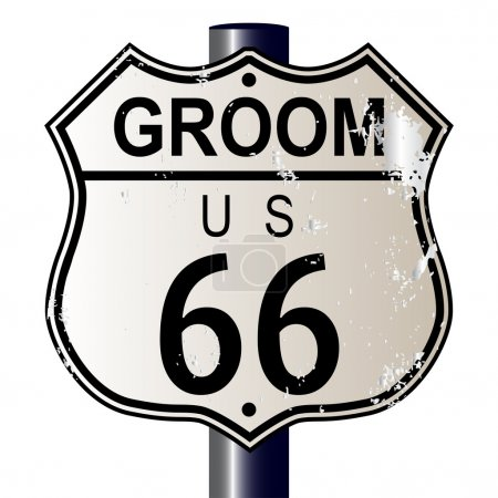 Groom Route 66 Sign