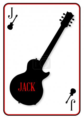 Electric Guitar Playing Card