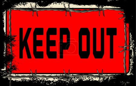 Barbed Wire Keep Out