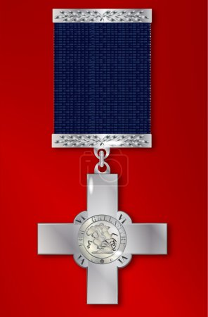 The George Cross medal awarded for exceptional bra...