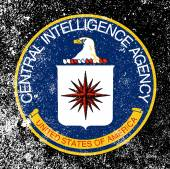 Logo of The Central Intelligence Agency of the United States of America with heavy grunge effect