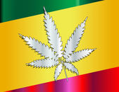 Rastafarian Flag And Leaf