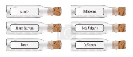 homeopathic remedy bottle Buttons
