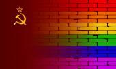 Gay Rainbow Wall USSR Flag