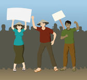 Farmers Demonstration Demanding Justice