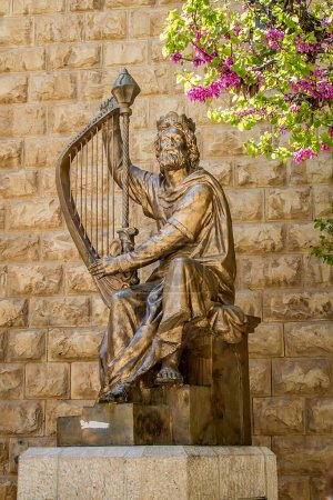 Monument of King David with the harp