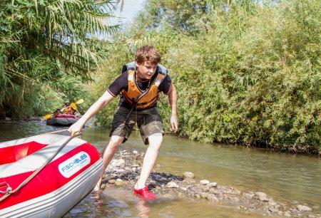 Jordan, down the river in kayaks