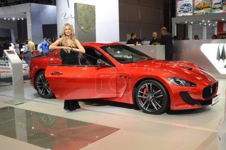 Красный Мазерати Московского Международного Автомобильного