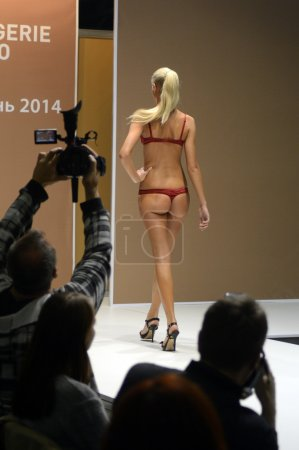 Photo for Red Lingrie Desire Lingrie Expo Fashion Show Autumn - Royalty Free Image