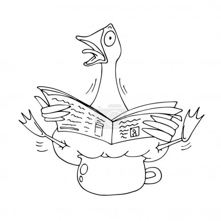 caricature of a goose