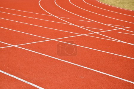 Photo for Running track stripes - Royalty Free Image