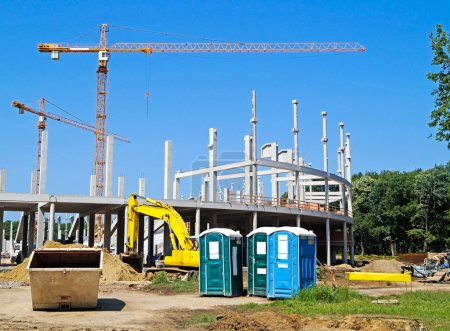 Photo for Construction site with tower crane - Royalty Free Image