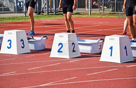 Photo for Starting at the running track - Royalty Free Image