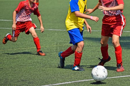 Young soccer players