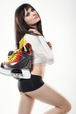 Sexy Ice Skating Woman