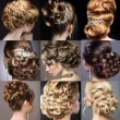 Collection of wedding hairstyles. Beautiful girls....