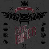 Design elements for the cafe bar for bikers