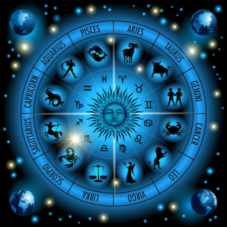 Illustration for Circle of the zodiac signs. Vector Illustration - Royalty Free Image