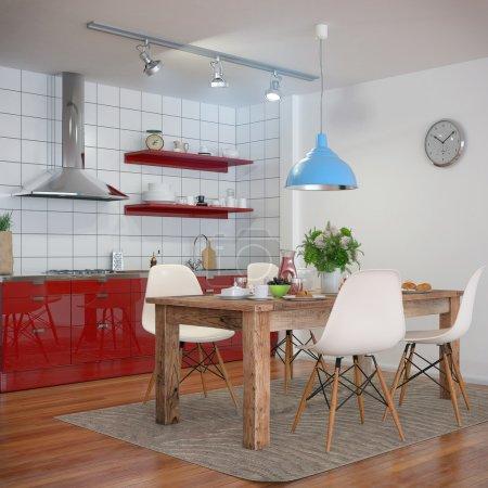 3d - modern kitchen interior - shot 30