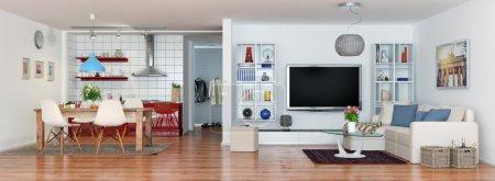 luxury modern loft apartment - panorama