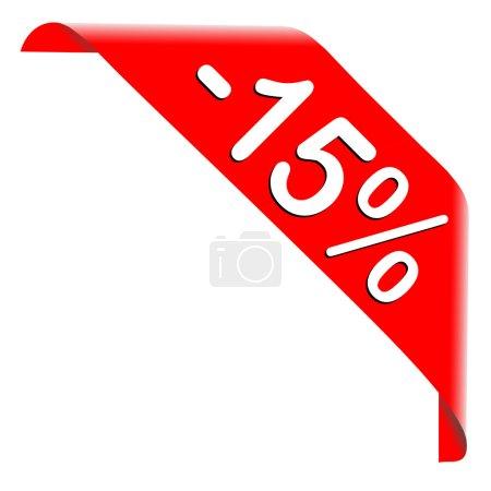 Photo pour 15 % de réduction offre sur fond blanc - image libre de droit