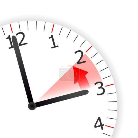 Photo pour Illustration d'un changement d'horloge d'une heure - de l'été à l'hiver . - image libre de droit