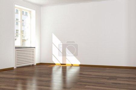Photo pour Rendu 3D d'un moderne nettoyé vieux buliding plat - concept d'intérieur - image libre de droit