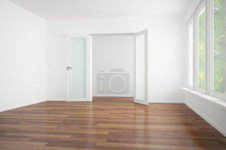 Photo pour 3d rendu d'un vieux couvercle moderne nettoyé plat - concept intérieur - image libre de droit