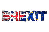 Brexit Text Isolated Brexit cracks Text Isolated United Kingdom exit from europe relative image Brexit named politic process Referendum theme