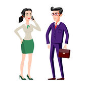 Business people man and woman consults over book Vector isolated illustration Shadow silhouettes Presentation brainstorming explaining talking Lawyers advise Discussion corporate strategy