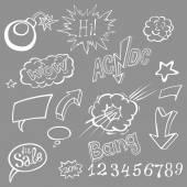 Bomb explosion comic style templates Vector illustration