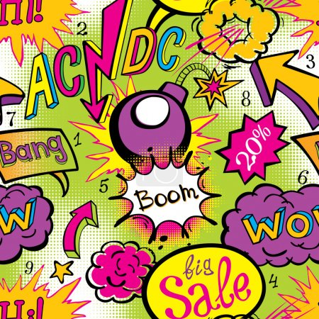 Comic book explosion pattern vector
