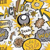 Comic book explosion pattern vector illustration seamless