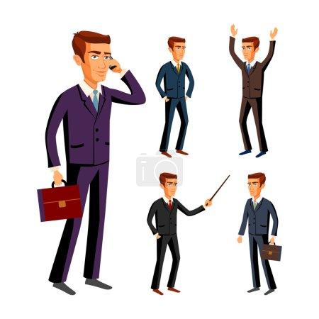 Businessman wearing suits vector businessman male ...