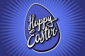 Straně nápis Veselé Velikonoce v retro stylu