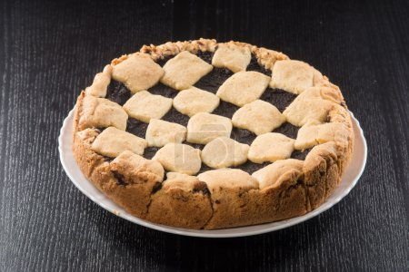 Photo for Tart pie pastry and chocolate cream - Royalty Free Image