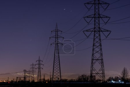 High-voltage towers