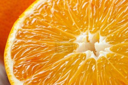 Foto de Fondo de naranjas frescas en rodajas - Imagen libre de derechos