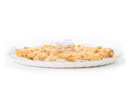 Italian traditional Sbrisolona cake isolated on wh...