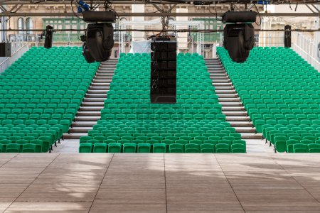 theater with green chairs