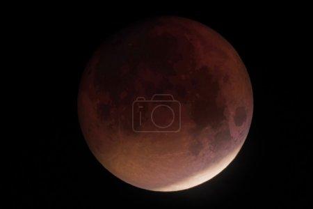 Lunar eclipse red moon