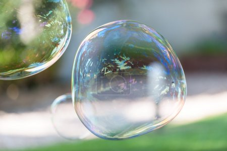 Soap bubbles on  background