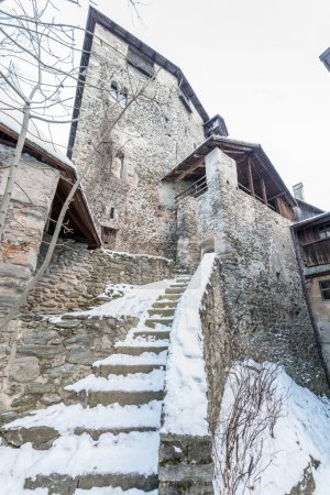 Ancient castle Tyrolean in the evening