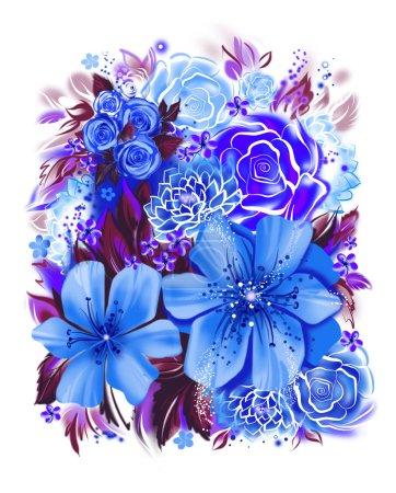 texture transparente avec des fleurs