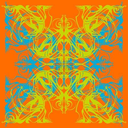 Photo pour Mandala. Motif décoratif en dentelle, ornement vintage avec de nombreux détails qui se chevauchent. Dentelle délicate au crochet. Tapis oriental, arabesques. Turquie, Maroc, arabe. Motif oriental, style moderne - image libre de droit