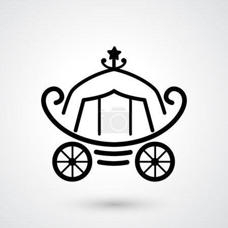 Carriage icon vector