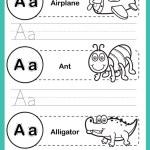 Alphabet a-z exercise with cartoon vocabulary for ...